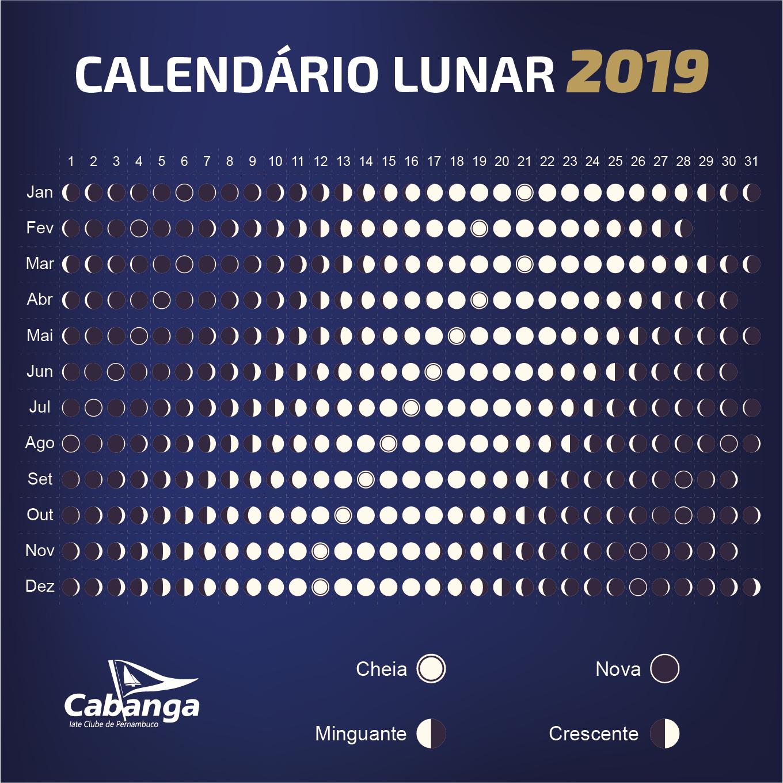 Cabanga publica calendário lunar 2019   Cabanga